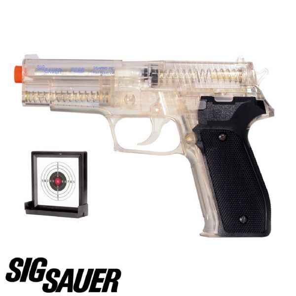 Sig P226 Airsoft BB Gun and Gel Target, Official Version - Fast UK Dispatch